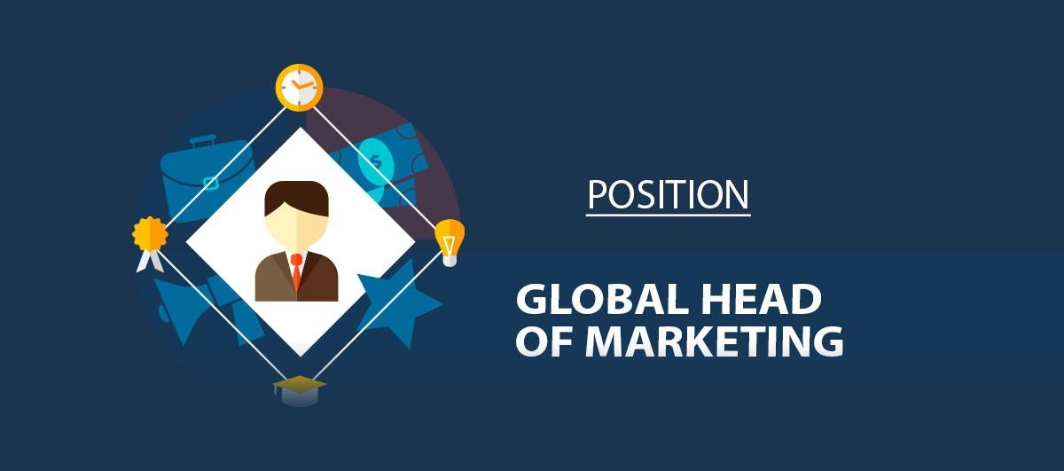 Вакансия Global Head of Marketing